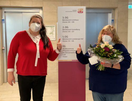 "Comunita Seniorenresidenz ""Ruhrblick"" in Arnsberg heißt neue Kollegin herzlich willkommen."