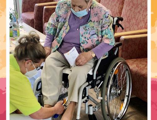 Mobiles Schuhgeschäft im Seniorenhaus Josefa
