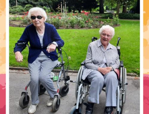 So genießen unsere Senioren vom Seniorenhaus Josefa den Spätsommer